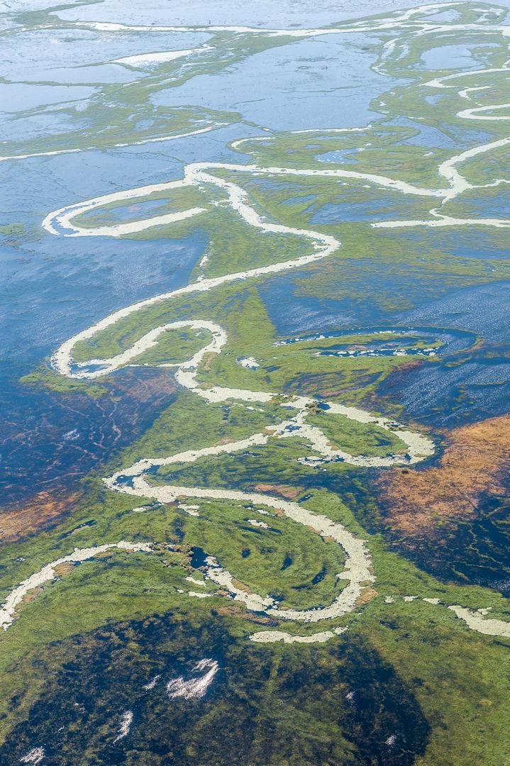 Botswana aerial view