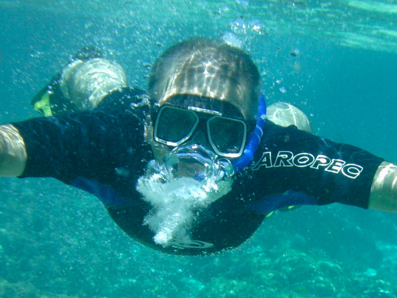 Michael snorkelling at Lord Howe Island