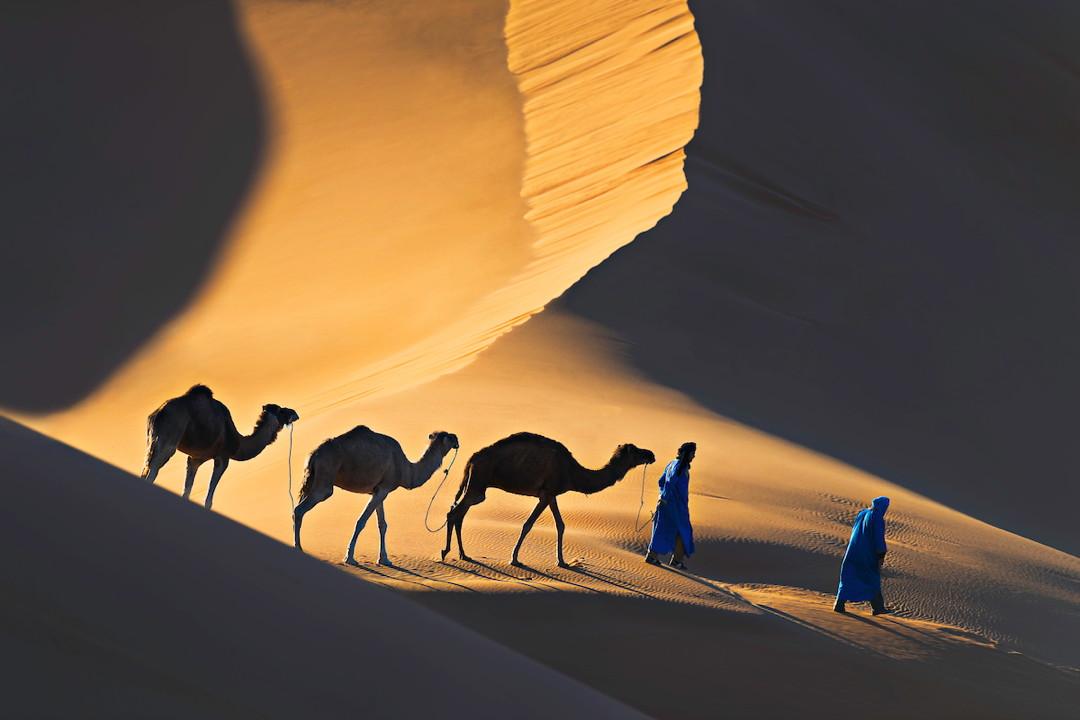 Moroccan desert nomads