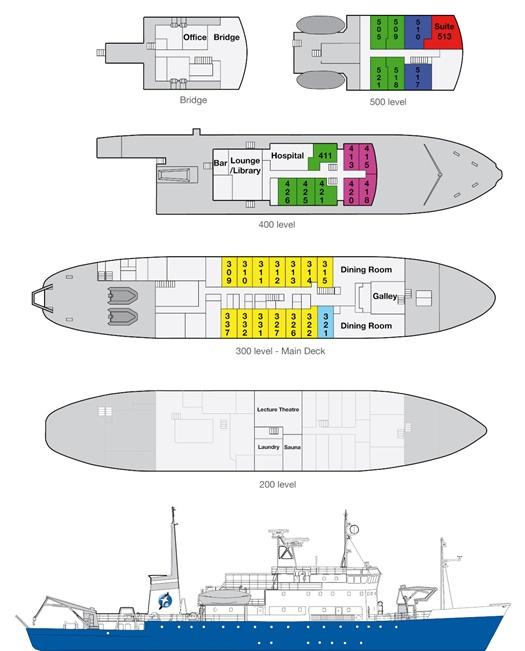 Spirit of Enderby Deckplan