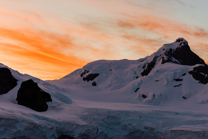 Sunset in Antarctica © Michael Snedic